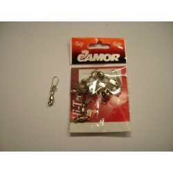 CAMOR_NICKEL BALL BEARING SWIVEL WITH INTERLOCK SNAP_SIZE 4
